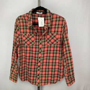 By Junkfood flannel plaid button down